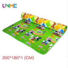 New Best Quality Double Side Kids Play Rug Winnie Classic and Mickey Child Carpet Thickness 1 CM Baby Gym Crawling Mat Toys(China (Mainland))