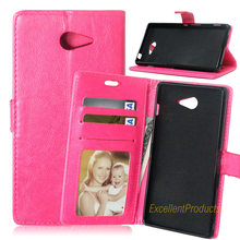 Buy Luxury Leather Wallet Phone Case Sony M2 Flip Cover Card Slot Stand Magnetic Fundas Sony M2 for $5.86 in AliExpress store