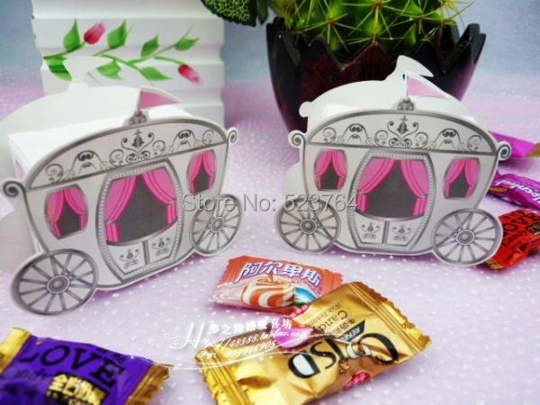 Cinderella Carriage Favor Boxes : Wholesales cinderella enchanted carriage favor box wedding