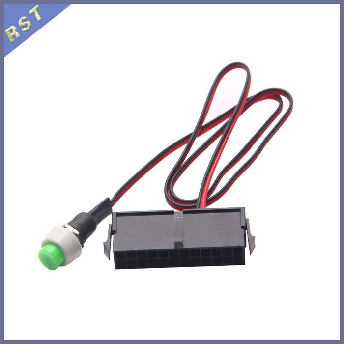 50pcs/lot 24Pin PC Power Starting Cable With Switch - 50cm(China (Mainland))