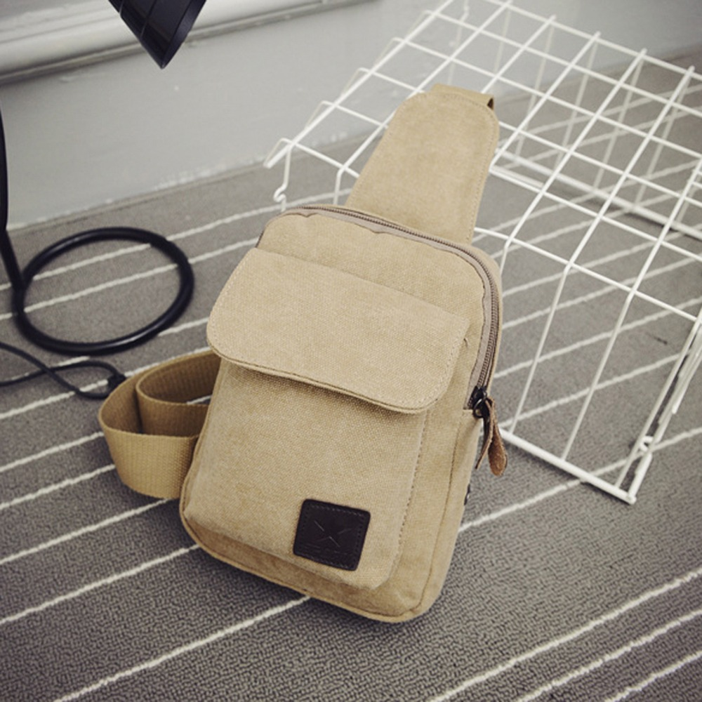 Cool Casual men chest back pack sports canvas bags outdoor small male messenger bags Fashion shoulder bags package rucksacks(China (Mainland))