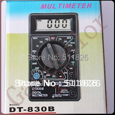 AC/DC Ammeter Voltmeter Ohm Electrical Tester Meter Professional Digital Multimeter DT830B Free Shipping 8036(China (Mainland))