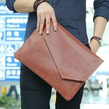 The original design of Korean fashion male package solid envelope bag men hand bag retro package briefcase bag(China (Mainland))