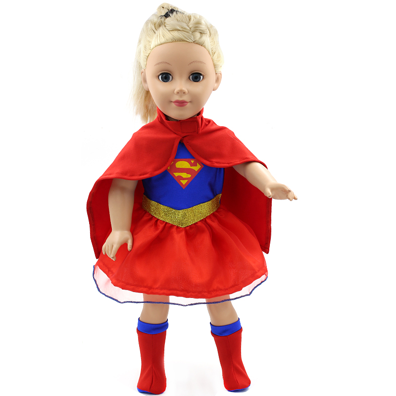 American Girl Doll Clothes Superman and Spider-Man Cosplay Costume Doll Clothes for 18 inch Dolls Baby Doll Accessories D-3(China (Mainland))