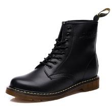 Stivali Dr. Martens caldi degli uomini di Marca di Inverno del Cuoio Caldi Scarpe Da Moto Mens Ankle Boot Doc Martins Della Pelliccia Degli Uomini di Oxford scarpe(China)