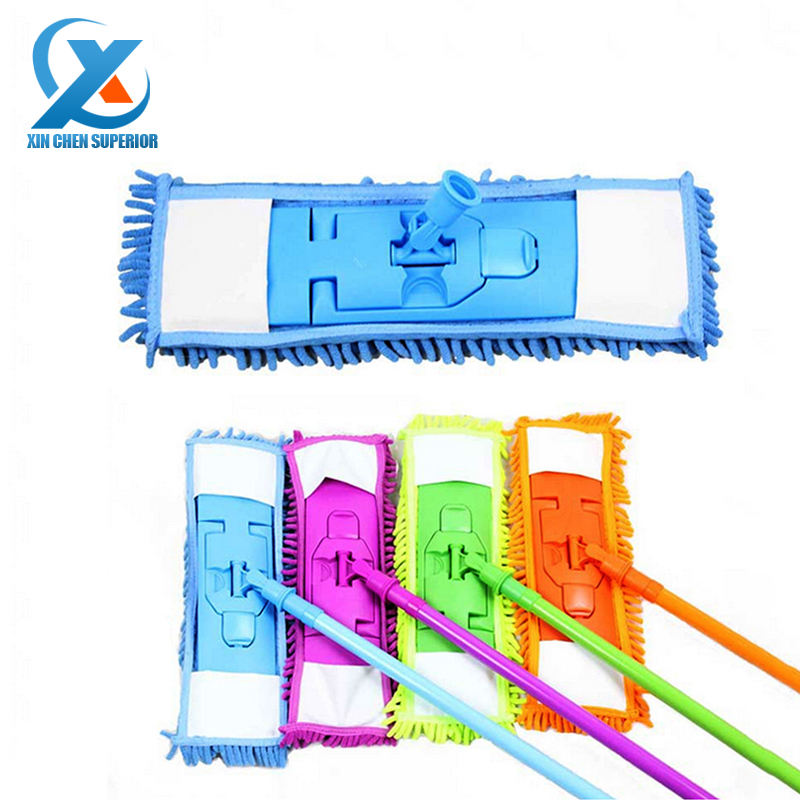Detachable Soft Chenille Mop Cleaner adjustable Mop Rod Kitchen Bathroom Super-absorbent Microfiber Cleaning Mop Fast Shipping(China (Mainland))