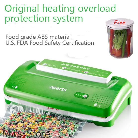 APERTS VS1000 Household Vacuum Sealer For Food Kitchen Packaging Machine Food Preserver(China (Mainland))