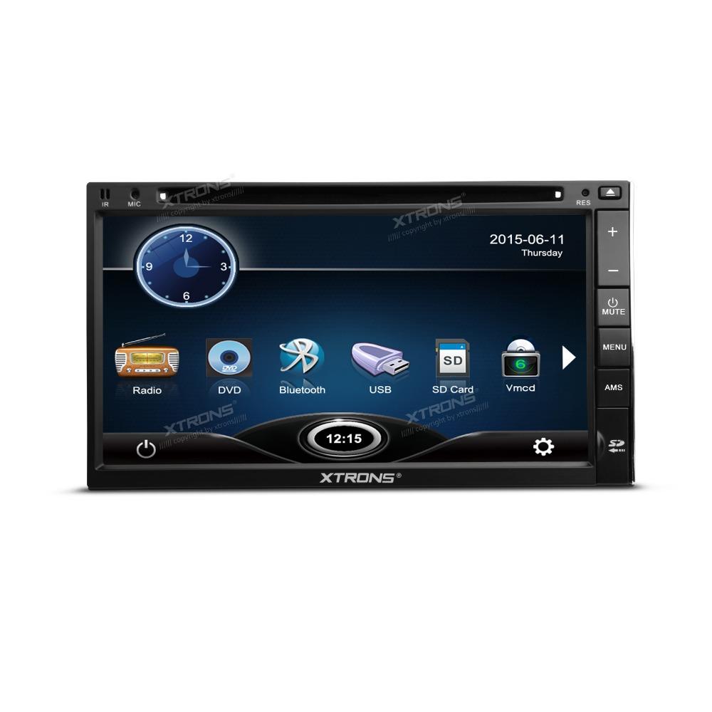XTRONS 6.95 inch 2 din car audio HD Touch Screen SWC Bluetooth USB SD 6 Virtual Disc Car DVD radio Player(China (Mainland))