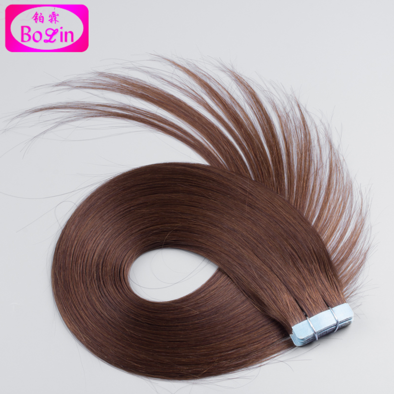 HOT 10-24inch 8A unprocessed Brazilian virgin straight skin weft tape human hair extensions 50g(20pcs) #4colors available<br><br>Aliexpress