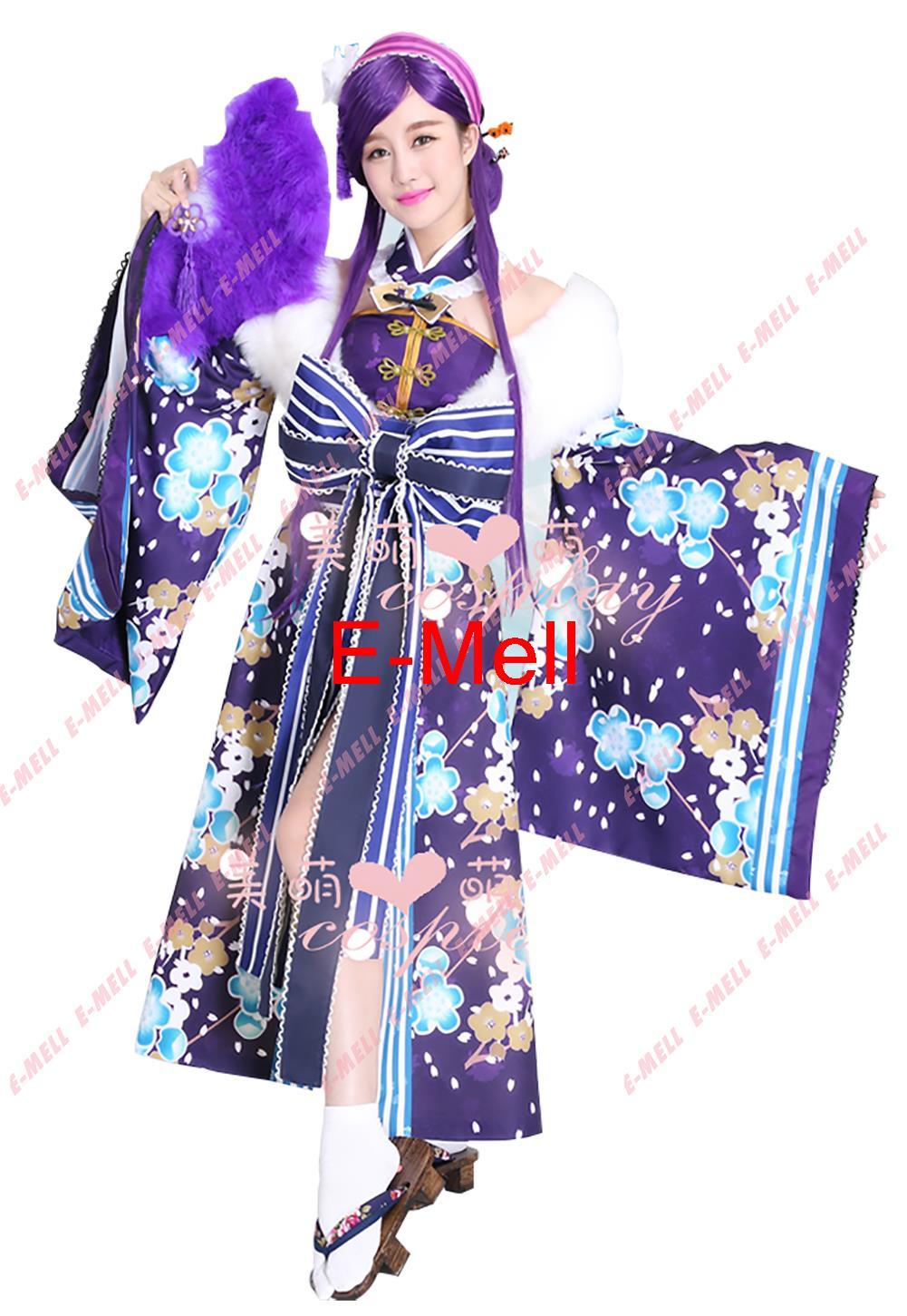 Love Live lovelive Awakening Nozomi Tojo Kimono cosplay costume  Kimono set for Christmas Halloween