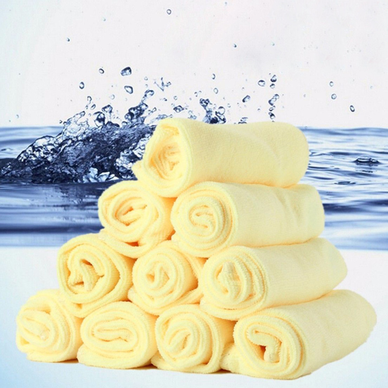 10x Water Absorbent Cloth Microfiber Towel Kitchen Car Cleaning Towel Washing Polishing Cleaner Square Duster Towels 30*30cm(China (Mainland))