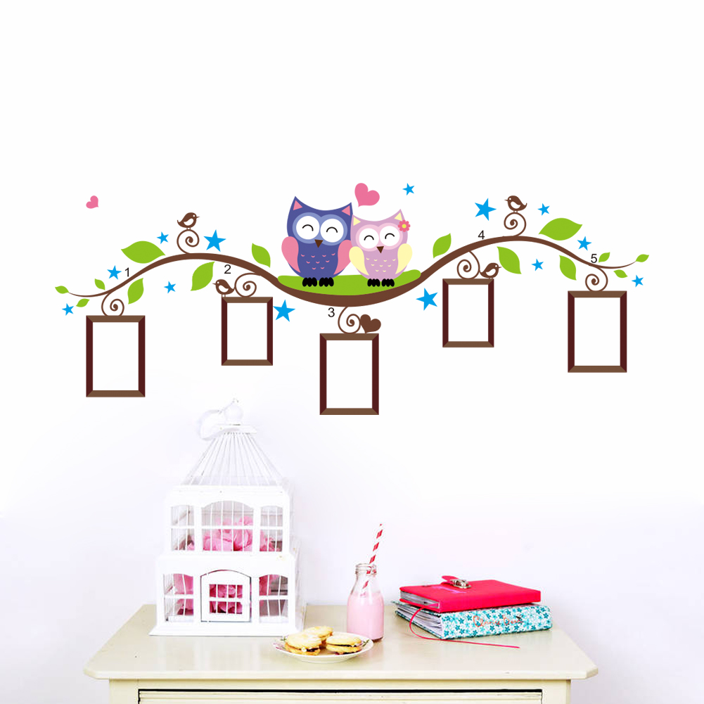 Bedroom wall stickers tree - Photo Stickers Muraux Maison D 233 Coration Bedrrom Animaux Stickers