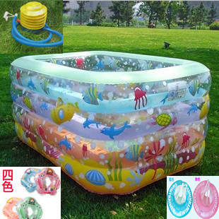 Free shipping Dream Large abc baby swimming pool abc rectangle inflatable swimming pool super large child swimming pool(China (Mainland))