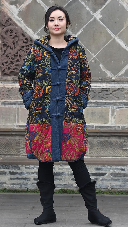 Скидки на Новые продукты, перечисленные в зима 2016, оригинальный дизайн хлопок сыпучих большой ярдов женщин утолщение хлопка-ватник одежды