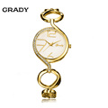 Grady brand New women fashion watch stainless steel golden bracelet free shipping