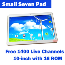 10 inch latest small seven pad 1400 more free live channels with two sim cars to call and lot of vod app for oversea Chinese(China (Mainland))