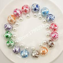 10 pairs/lot New Arrivals Candy Color Fashion Colored stripes Simulated Double Pearl Stud  Earrings Jewelry for women(China (Mainland))