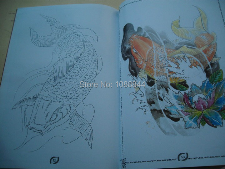 Wholesale wholesale king of koi carp fish tattoo flash for Cheap koi fish