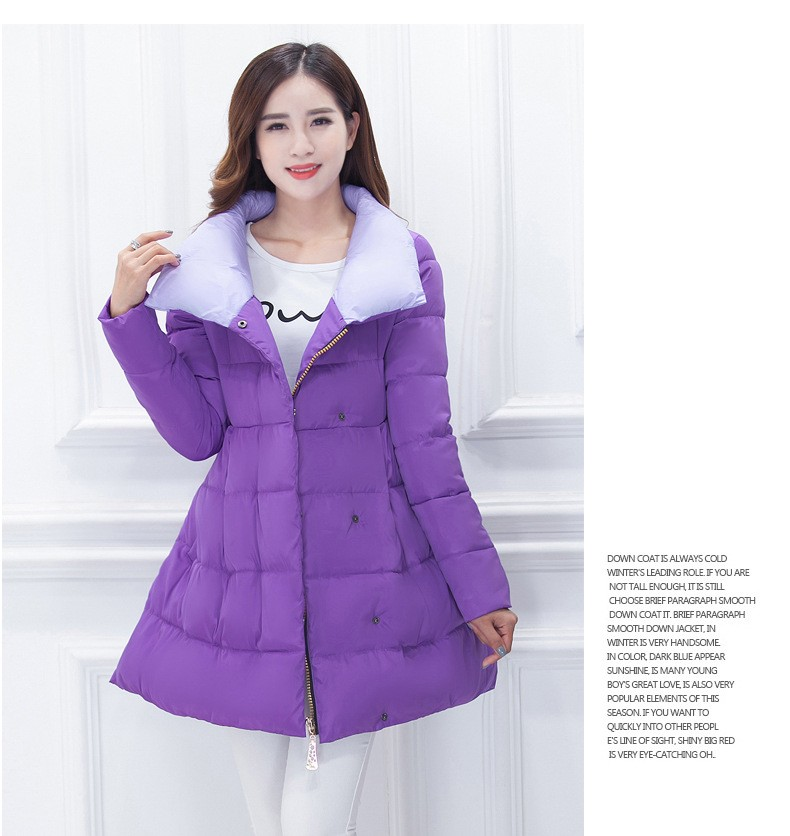 Down Jacket Female Middle-long 2016 New Winter Maternity Coat Large size Women Cotton Down Jacket Thicken Winter Coat A2033