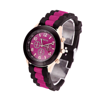 Excellent Quality Fashion Geneva Silicone Quartz Watch Women Jelly wristwatch Woman Dress Watches Casual Women Watches for Gift
