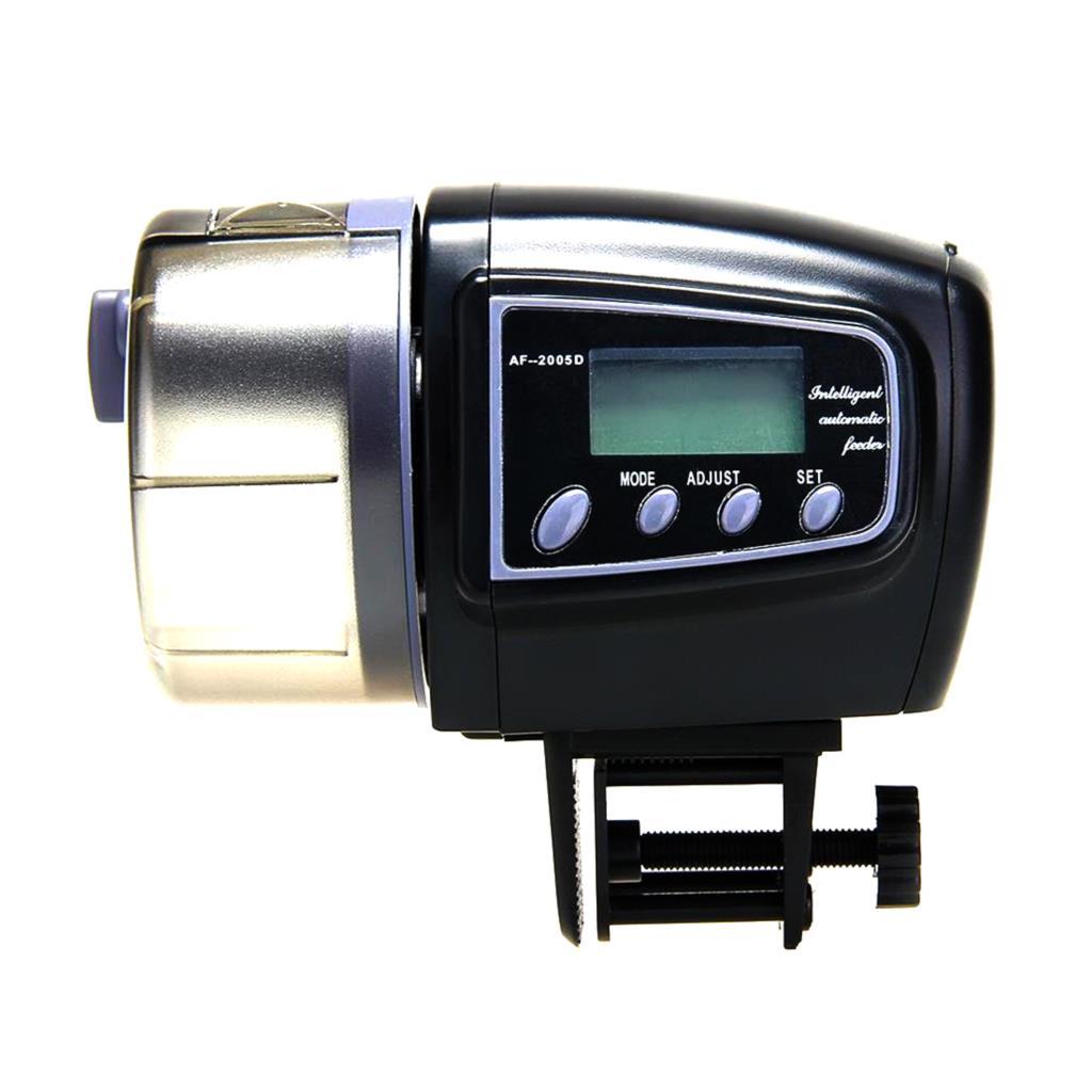 Гаджет  Automatic Manual Auto Feeding Convenient Aquarium Fish Tank Food Feeder Timer LCD Display   None Дом и Сад