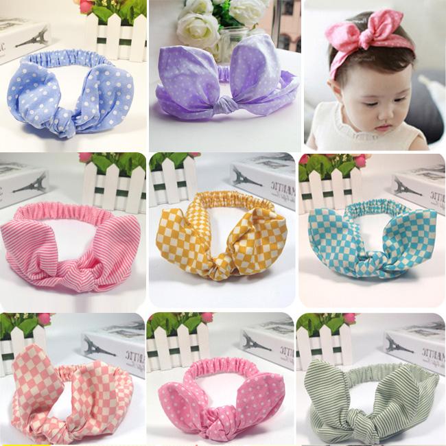 Cute Baby Toddler Girl Kids Elastic Hairband Turban Knot Rabbit Ear Headband Headdres(China (Mainland))