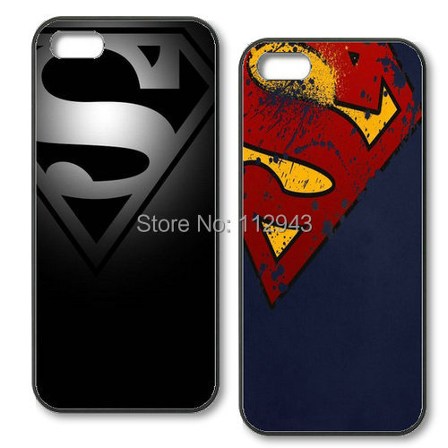 1 Pcs free shipping Cool Superman Cover Pc items case For iphone 6 Plus 5 5s 5g 4 4g 4s Hard black cell phone cases(China (Mainland))