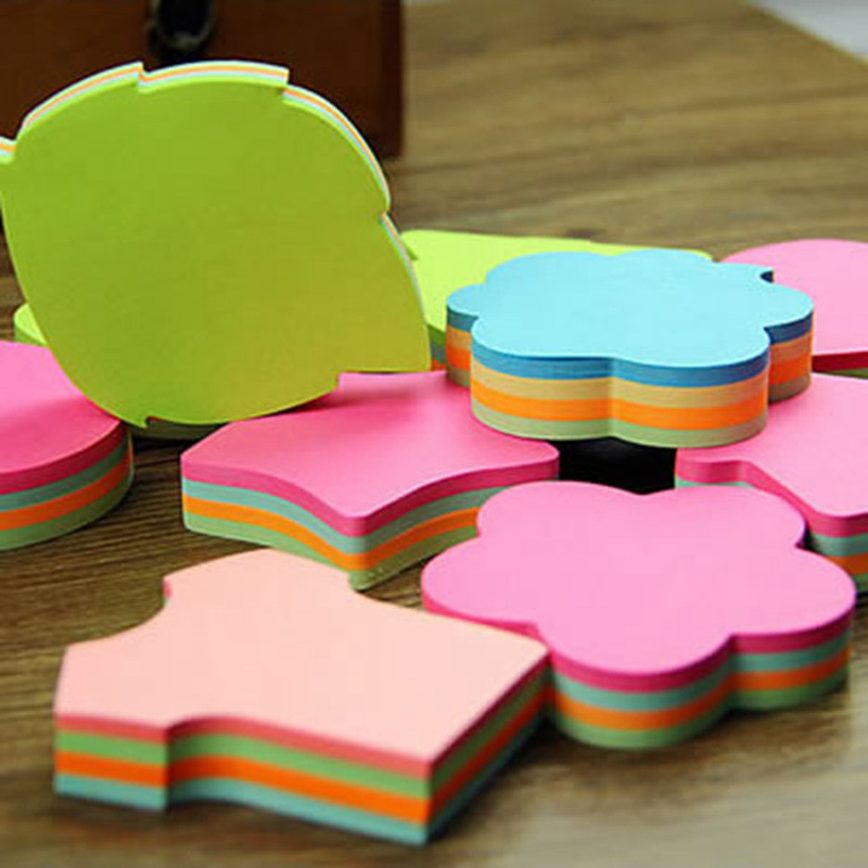 100 Pages Multicolor Sticky Notes Cute Kawaii Love Memo Pads Sticker Post It Bookmark Marker Flags Sticker Planner Briefpapier