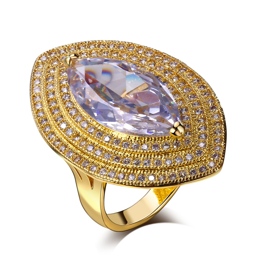 Women Rings'Secret New Arrive Free Shipping Ring for women Horse Eye Clear White Cubic Zirconia Bridal 18K Gold Plated Lead Free(China (Mainland))