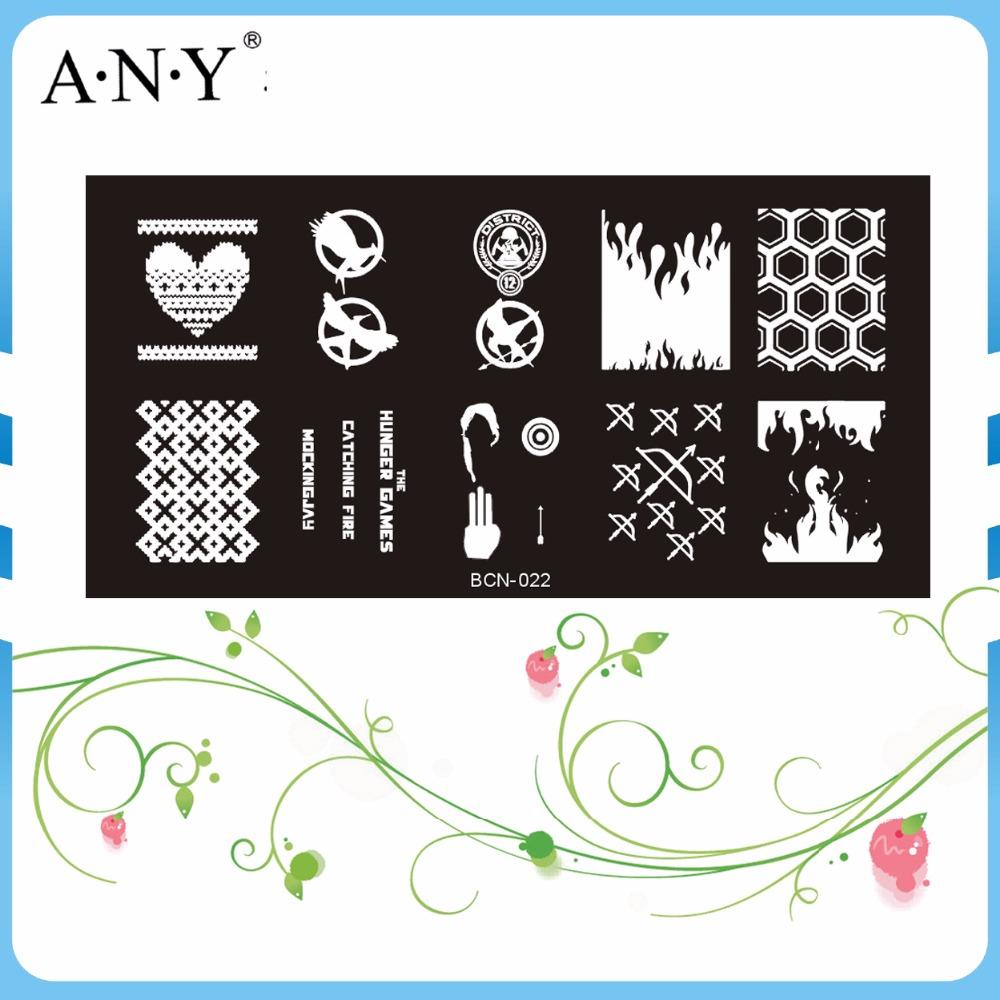 Free Shipping Wholesale BCN-022 Bow and Arrow Pattern DIY Nail Art Tools Metal Nail Stamping Image Template Plates 10PCS/Lot(China (Mainland))