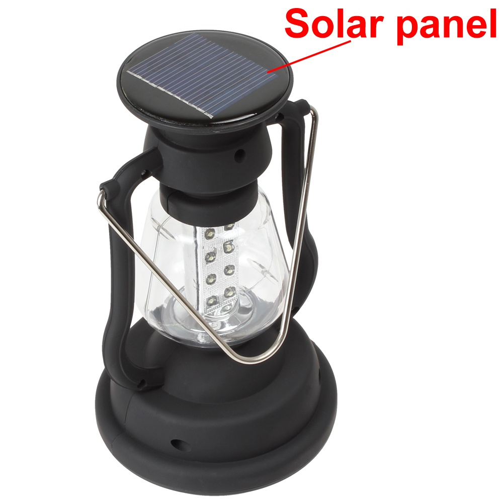 Outdoor 16 LEDs Solar Panel Hand Crank Dynamo Lamp Camping Lantern(China (Mainland))