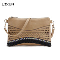 LIXUN Brand Vintage Women Leather Tassel Envelope Crossbody Messenger Handbags Shoulder Bags Flap Clutch Purses Feminina