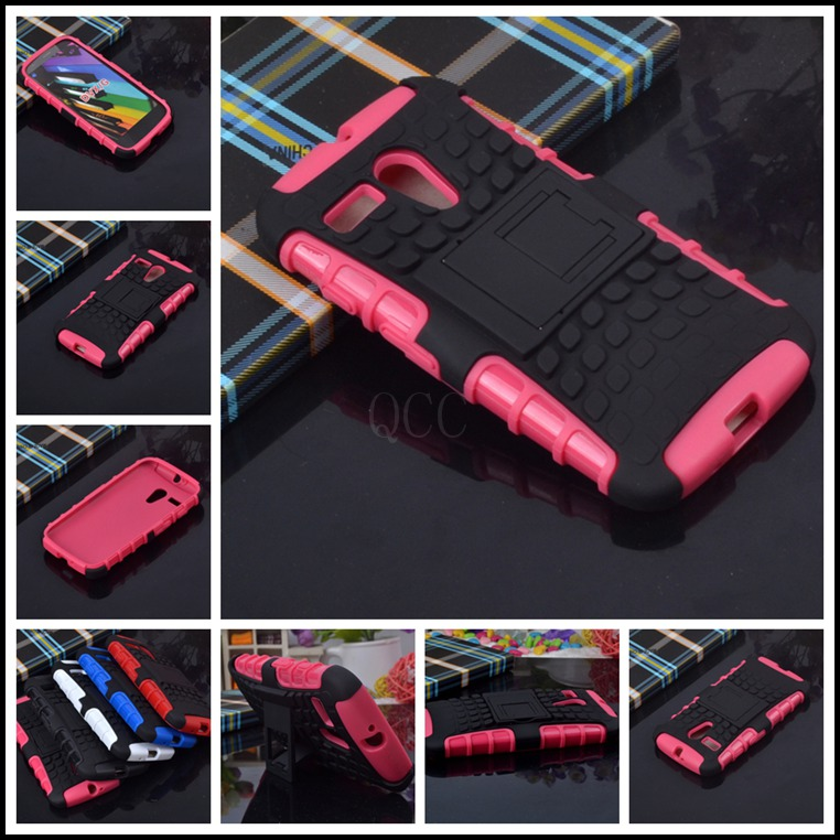 For Motorola Moto G DVX XT1032 xt1028 xt1031 Dual Shock Proof Armor silicone + pc phone bags case cover + stand function+1x film(China (Mainland))