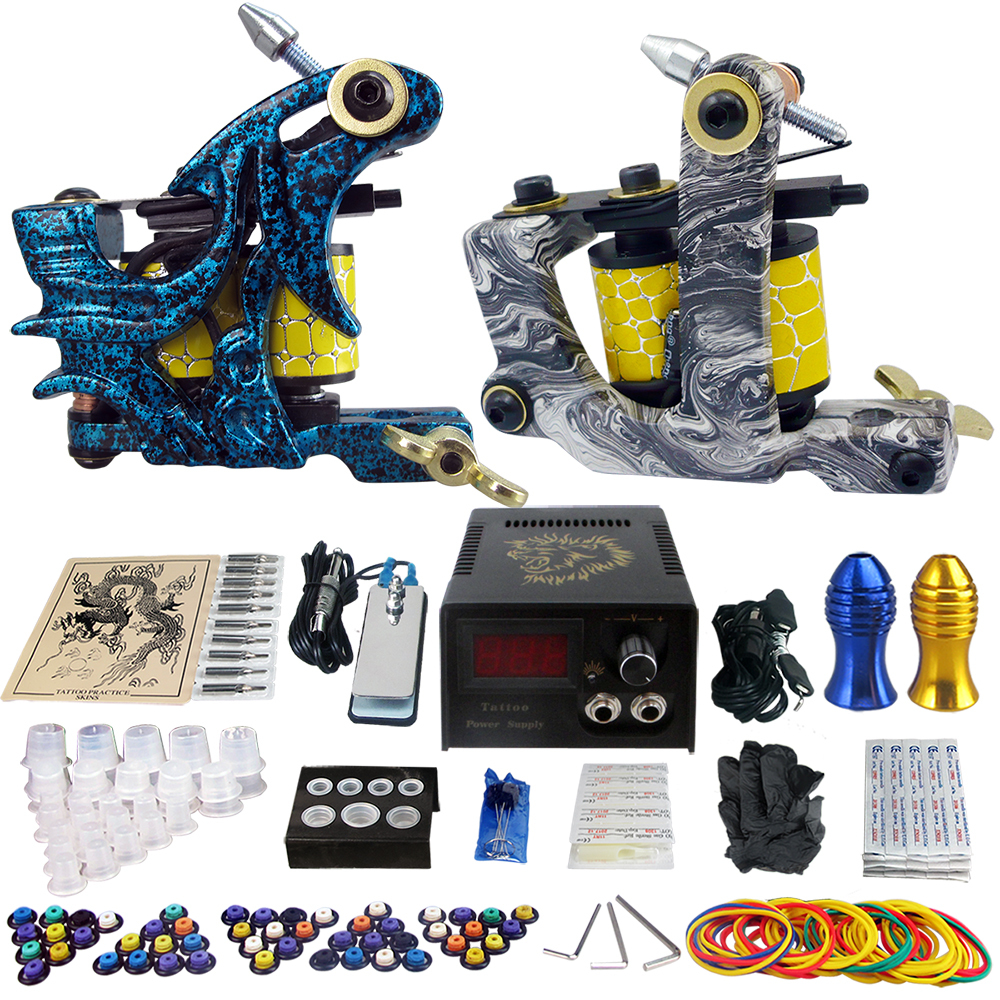 Здесь можно купить  Pro Tattoo Kit 2 Rorary Tattoo Machine Gun Power Supply 1 Set Tattoo Tip Cleaning Rrush One Set  TK202-7 Pro Tattoo Kit 2 Rorary Tattoo Machine Gun Power Supply 1 Set Tattoo Tip Cleaning Rrush One Set  TK202-7 Красота и здоровье