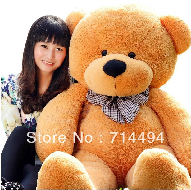 Wholesale 140cm teddy bear plush toys high quality and low price skin holiday gift birthday gift valentine gift FREE SHIPPING(China (Mainland))
