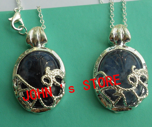 Freeshipping wholesale 20pc a lot Vampire Diaries Katherine Necklace Nature Stone Pendant BB37