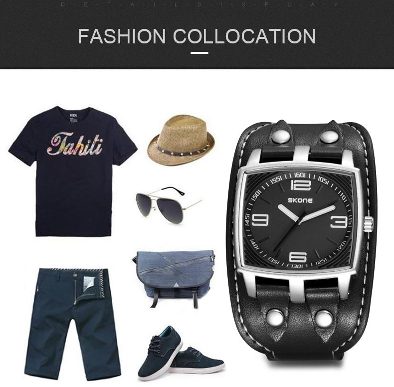 SKONE Марка Повседневная Мода мужская Кварцевые Часы Спортивные Наручные Часы relogios masculinos montre homme