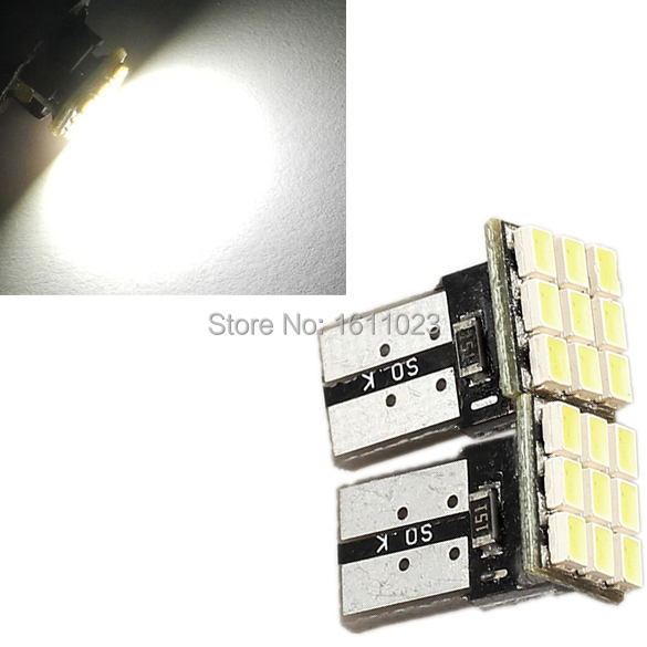 2Pcs T10 194 168 W5W 9 SMD Car White LED Light DC 12V License Plate Lamp