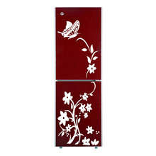 Buy Brand New Removable Waterproof Butterfly Flower Vine Fridge Decal Wall Sticker Home Bedroom Refrigerator Kitchen Decor for $3.33 in AliExpress store