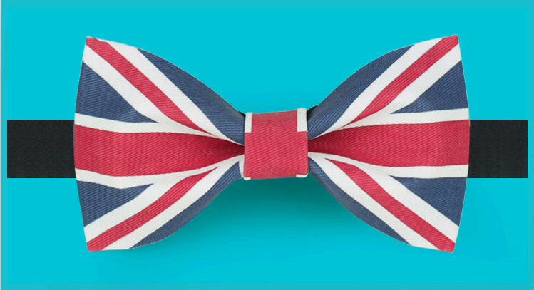 Original design The Union Jack England Flag bow tie groom dress suits tuxedo cocktail party bow tie birthday gift wedding gift(China (Mainland))