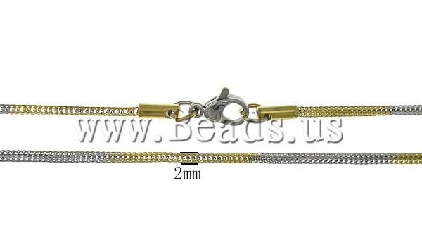 Free shipping!!!Necklace Chain,Wholesale 2013 Jewelry, Stainless Steel, stainless steel lobster clasp, gold color plated