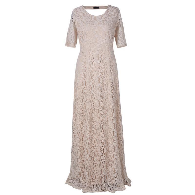 Nemidor Women\'s Full Lace Plus Size Formal Maxi Dress (4)