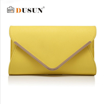 Women Genuine leather Clutch bag 2015 Famous brand Crossbody bags Ladies Fashion Envelope bag Woman Evening Party bag Small sac