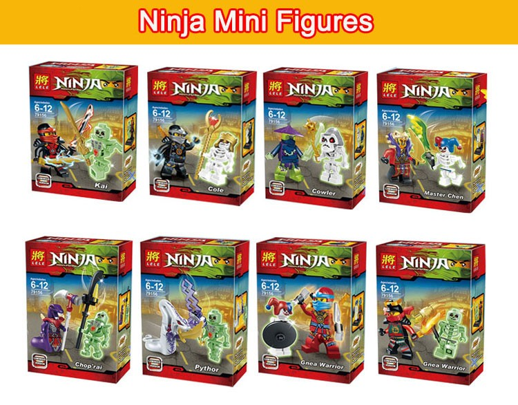 Education Kids Toys Ninja Anime Action Figrues Plastic Building Toys Bricks Construction Blocks Compatible With Lego 360pcs/lot<br><br>Aliexpress