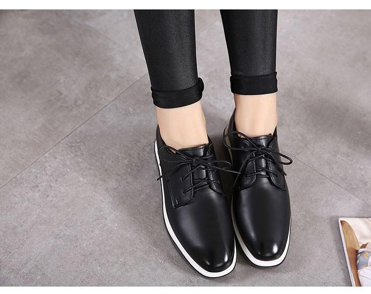 CBJSHO 2017 Fashion Vintage Women Lace-Up Shoes PU Leather Brogue Shoes Woman Retro Oxford Shoes for Women Flat Platform Shoes