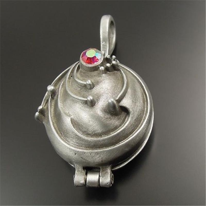 2PCS Antique Style Tin Color Brass Locket/Prayer Box Charm Pendants 31*24*16MM 32170(China (Mainland))