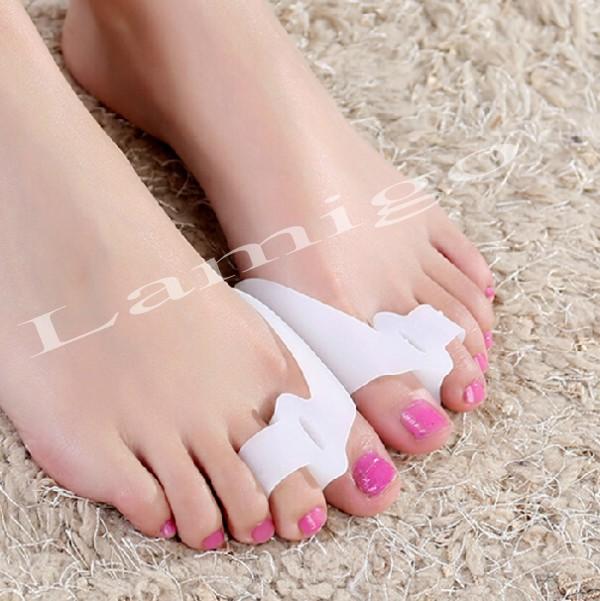 2015 hot sale Silicone gel bunion splint big toe separator protection feet care corrector aligns health hallux valgus(China (Mainland))