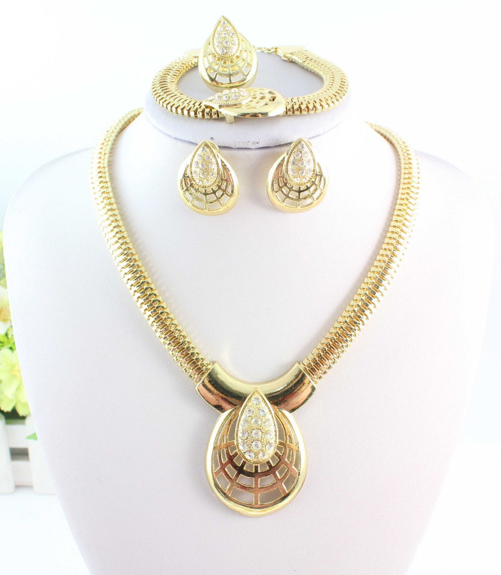 Wedding Gold Jewelry Sets Plated African Beads - WWS (Min Order $10 store)