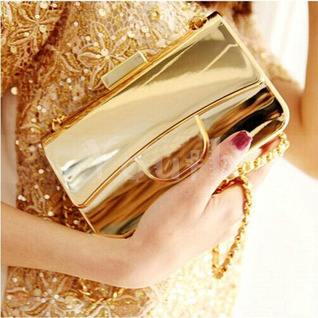 Дизайнер золото - покрытие акрил сумочка известный Logo вечернее мешок марка женщины портмоне сумка-мессенджер с цепь - DY3310