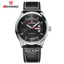 LONGBO Brand Genuine Leather Watch 2016 Fashion Men's Auto Date Waterproof Sport Watch Men Military Wristwatch Relogio Masculino